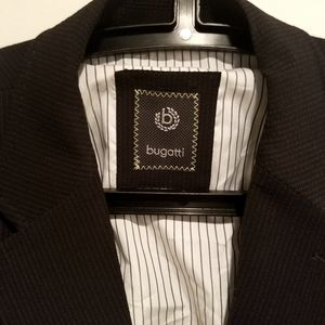 Bugatti suit blazer jacket black mens 2 button